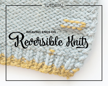 Weaving Ends On Reversible Knits!